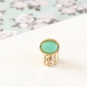 Mint Green Oval Stone Knuckle Ring